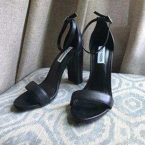 Steve Madden Carrson Black Leather Sandal